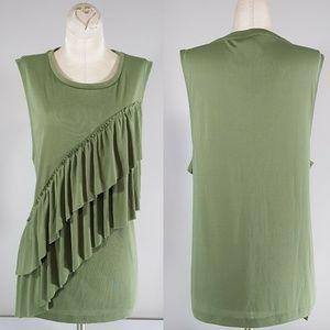 NWT J. CREW Womens Green Sleeveless Blouse XL